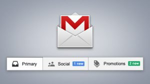 Tabs do Gmail no email marketing
